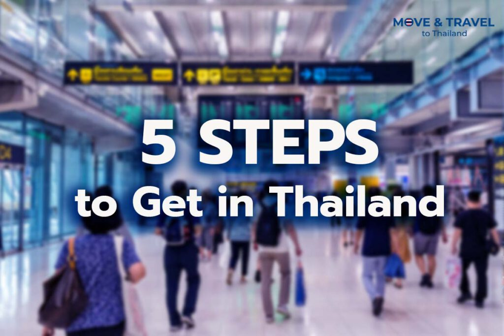 5steps to get in thailand