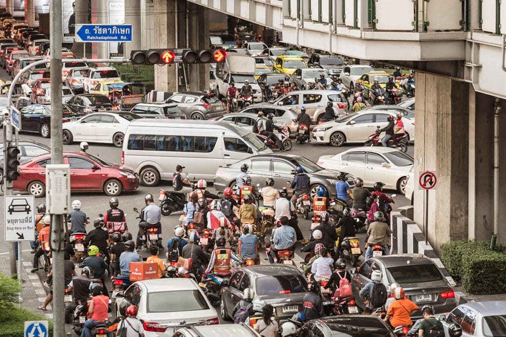 PM2. 5 in Bangkok comes directly from vehicles in the city