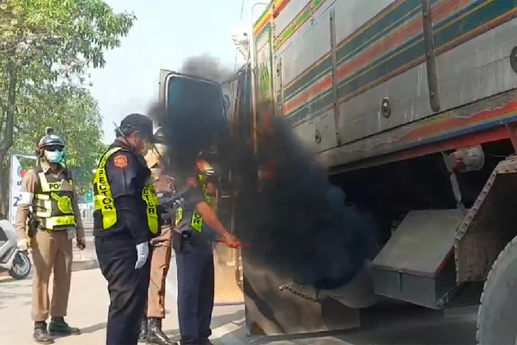 cars with black smoke has been conducted